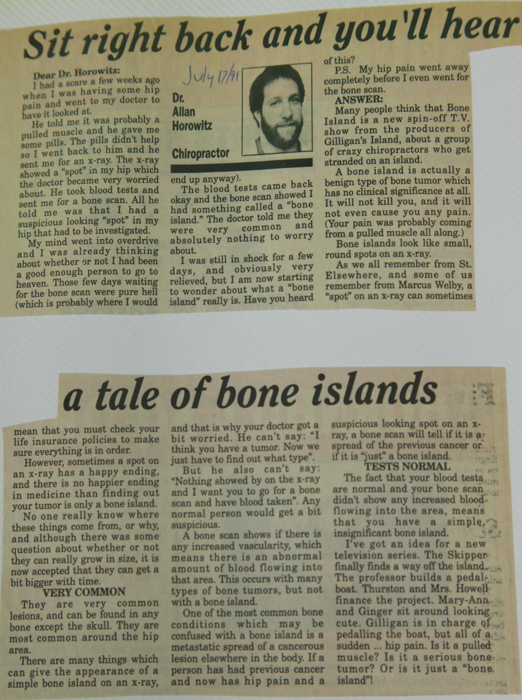 Sit right back and you'll hear a tale of bone islands - Dr ... Xray Femur Bone Island Concerning